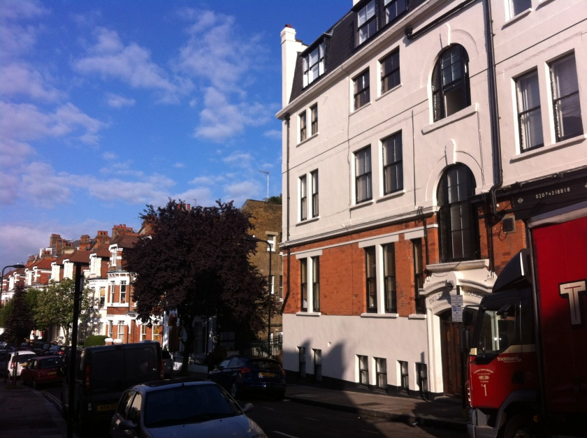 Fig.7 - The impressive buildings on the High Street give way to the more human scale of the residential side streets of West Hampstead.
